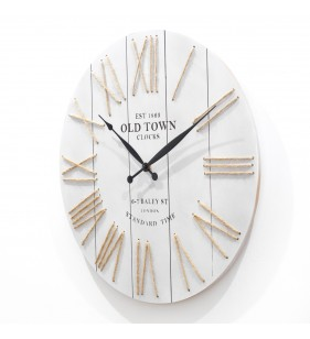 Nowoczesny zegar ścienny VINTAGE SHABBY LOFT 50 cm szary