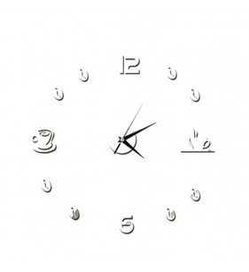 Kuchenny zegar ścienny  DIY silver mirrow