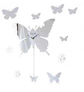 Zegar ścienny  DIY motyl  z wahadłem