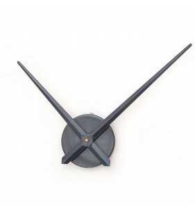 Duży zegar ścienny 3D DIY XXL12S grafitowy
