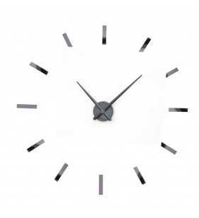 Duży zegar ścienny 3D DIY TZ-01 grafitowy
