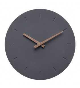 Nowoczesny zegar ścienny betonowy z akcentami drewna