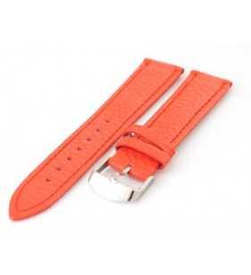 Skórzany pasek do zegarka czerwony