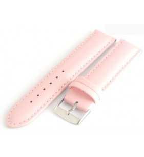Skórzany pasek do zegarka Diloy różowy