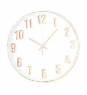 Klasyczny zegar ścienny w nowoczesnym stylu Rose - Gold