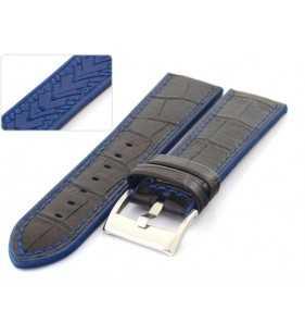 Pasek do zegarka gumowo skórzany Diloy Hybrid 420.1.5