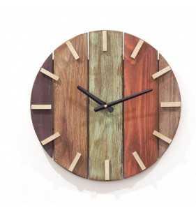 Nowoczesny zegar ścienny drewniany 3D