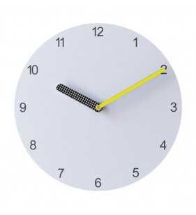 Nowoczesny zegar ścienny Happy Hour White