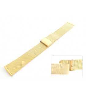 Bransoleta stalowa do zegarka Diloy CMMESH05DB złota