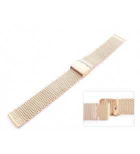 Bransoleta stalowa do zegarka Diloy CMMESH10OR miedziana, bransoleta o grubym spolcie