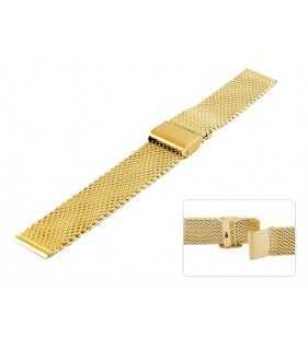 Bransoleta stalowa do zegarka Diloy CMMESH10DB złota o grubym splocie