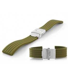 20-24 mm Pasek do zegarka gumowy Tekla T-07.11 zielony