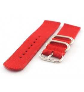 Pasek nylonowy do zegarka DILOY 408.6 NATO-ZULU czerwony