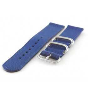 Pasek nylonowy do zegarka DILOY 408.5 NATO-ZULU niebieski