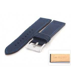 Pasek skórzany CEVLAR do zegarka DILOY 416.5 niebieski