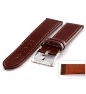 Skórzany pasek do zegarka Diloy 401.2 połysk brązowy