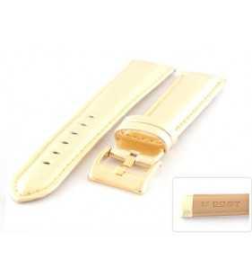 Złoty skórzany pasek do zegarka Diloy 369.30