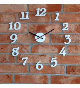 Nowoczesny zegar ścienny do przyklejenia na ścianę do 50 cm