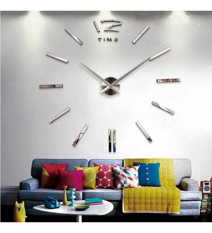 Zegar ścienny XL w salonie