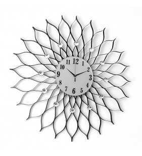 Zegar ścienny z kryształami 77 cm