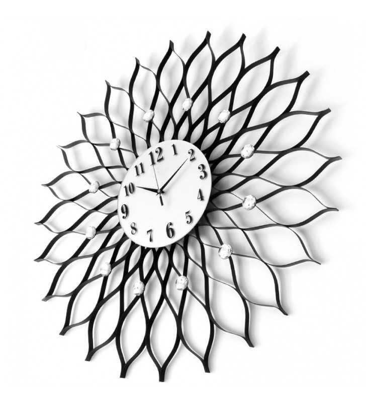 Zegar ścienny z kryształami 77 cm DIAMOND