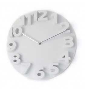 Nowoczesny zegar ścienny 3D YG35 biały