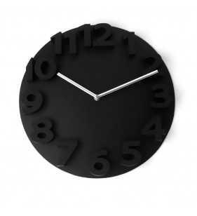 Nowoczesny zegar ścienny 3D YG35 czarny