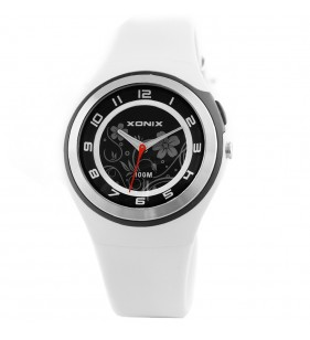 Zegarek damski  Xonix PI-02 WR 100m na tarczy widoczne kwiatki