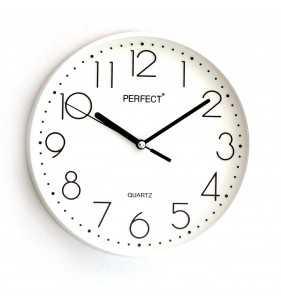 Klasyczny zegar ścienny 5814 biały