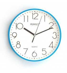Klasyczny zegar ścienny 5814 niebieski
