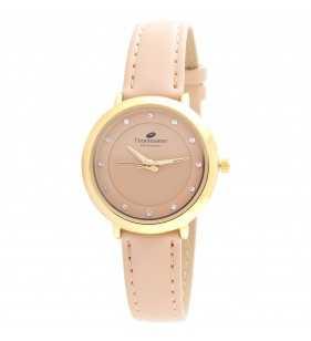Zegarek damski Timemaster 128/234 złoto beżowy