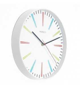 Klasyczny zegar ścienny 9653 biały