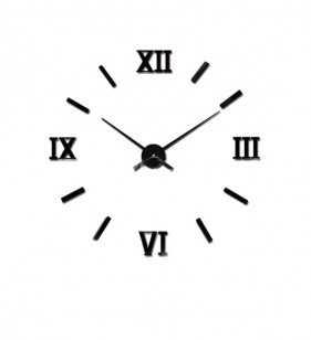 Zegar ścienny DIY CZARNY