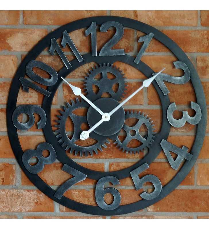 Duży zegar ścienny loft