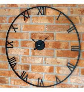 Zegar ścienny retro metalowy industrialny