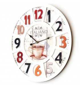 Nowoczesny zegar ścienny Vintage Shabby Loft XL
