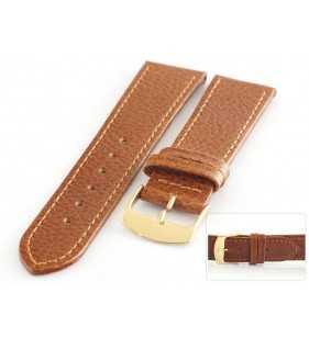 Pasek skórzany do zegarka HORIDO 086.03 jasno brązowy