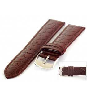 Pasek skórzany do zegarka HORIDO 119.02 brązowy pasek do zegarka krokodyl