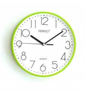Klasyczny zegar ścienny 5814 zielony
