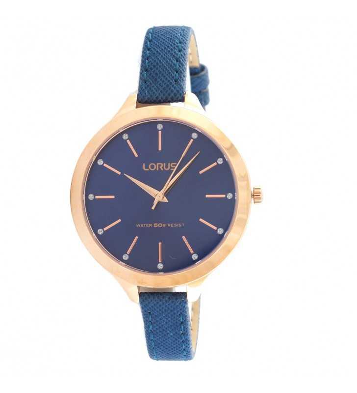 d1fb610b3ae381 Zegarek damski LORUS RG202LX niebiesko złoty modny zegarek