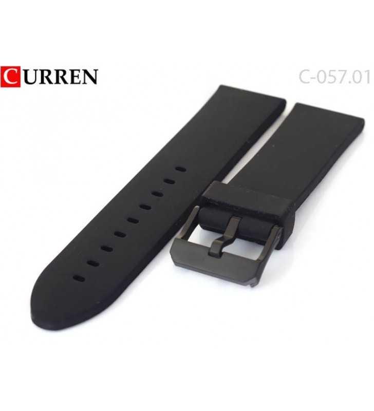 Kauczukowo gumowy pasek do zegarka czarny