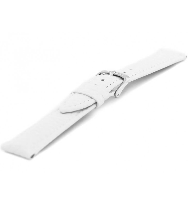 Skórzany pasek do zegarka biały