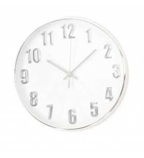 Klasyczny zegar ścienny w nowoczesnym stylu Silver