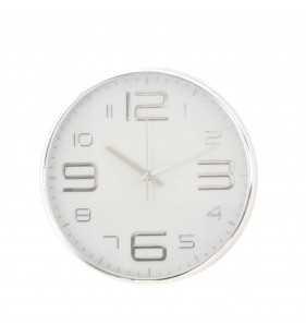 Klasyczny zegar ścienny w nowoczesnym stylu Silver cyfry