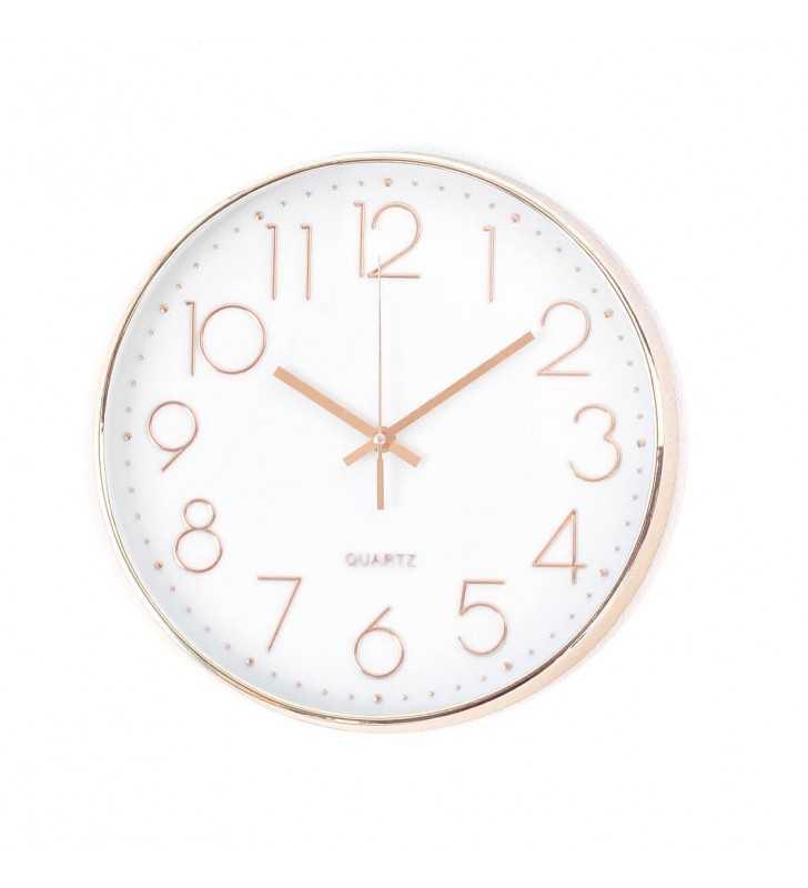 Klasyczny zegar ścienny w nowoczesnym stylu Chrom cyfry