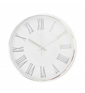 Klasyczny zegar ścienny w nowoczesnym stylu Silver Chrom Rzymski