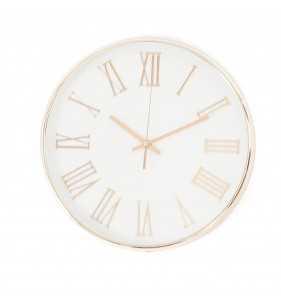 Klasyczny zegar ścienny w nowoczesnym stylu ROSE Chrom Rzymski