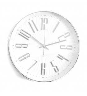 Zegar ścienny w kolorze chrom