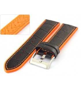 Silikonowo - skórzany pasek do zegarka Diloy 420