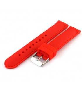 Pasek do zegarka kauczukowy TEKLA T-01.06 czerwony